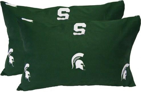 Michigan State Spartans Printed Pillowcase Set