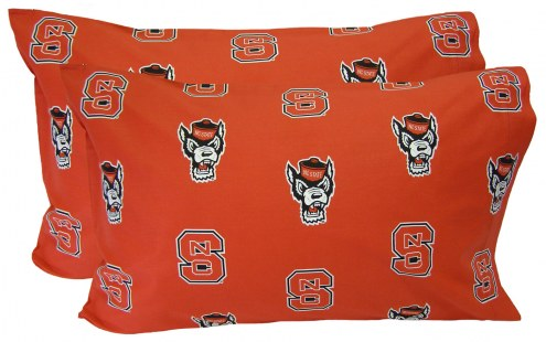 North Carolina State Wolfpack Printed Pillowcase Set