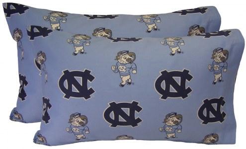 North Carolina Tar Heels Printed Pillowcase Set