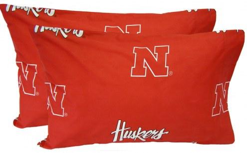 Nebraska Cornhuskers Printed Pillowcase Set