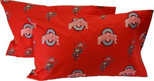 Ohio State Buckeyes Printed Pillowcase Set