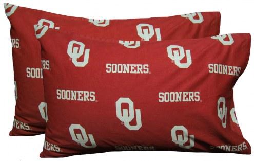 Oklahoma Sooners Printed Pillowcase Set