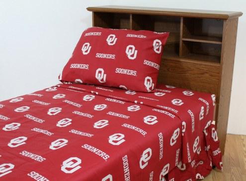 Oklahoma Sooners Dark Bed Sheets