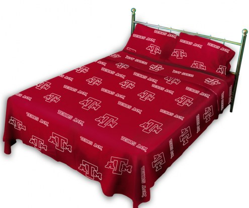 Texas A&M Aggies Dark Bed Sheets