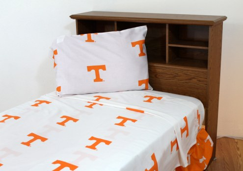 Tennessee Volunteers White Bed Sheets