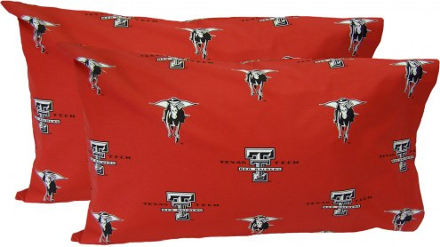 Texas Tech Red Raiders Printed Pillowcase Set