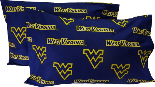 West Virginia Mountaineers Printed Pillowcase Set