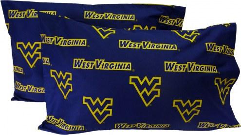 West Virginia Mountaineers Printed Pillowcase Set