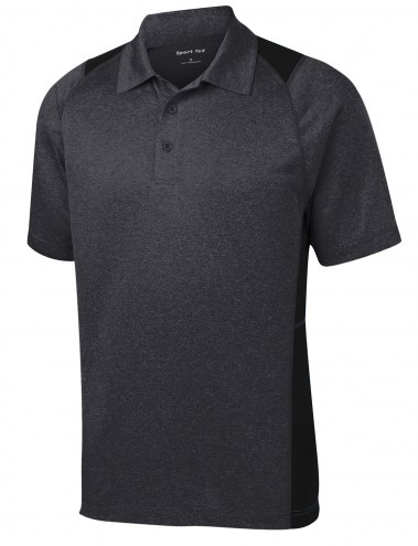 Sport-Tek Heather Colorblock Contender Men's Custom Polo Shirt