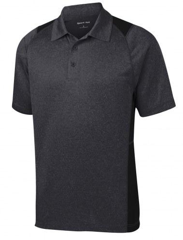 Sport-Tek Heather Colorblock Contender Men's Custom Polo Shirt