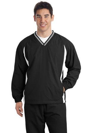 Sport-Tek Custom Men's Tipped V-Neck Raglan Wind Shirt