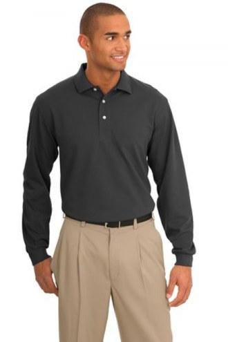 Port Authority Custom Rapid Dry Long Sleeve Polo