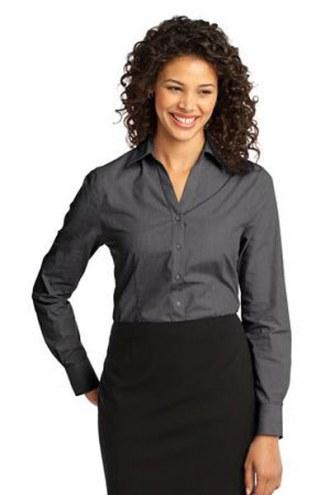 Port Authority Custom Women's Crosshatch Easy Care Button-Down Shirt