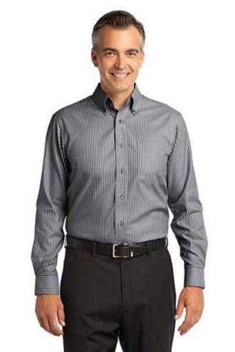 Red House Custom Men's Stripe Non-Iron Button-Down Shirt