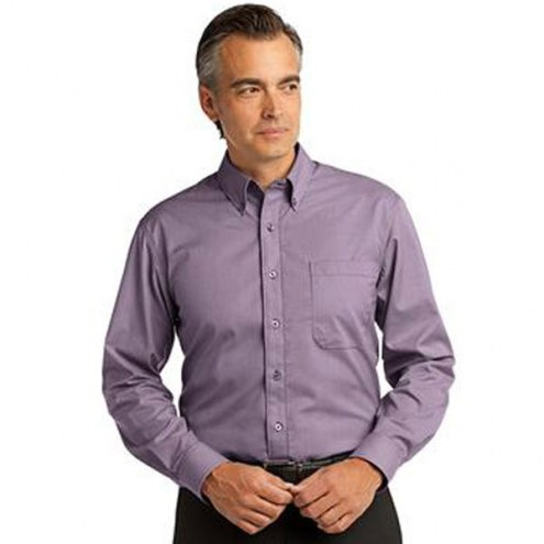 Red House Custom Men's Mini-Check Non-Iron Button-Down Shirt