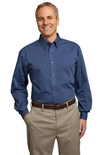 Port Authority Custom Men's Tonal Pattern Easy Care Button-Down Shirt