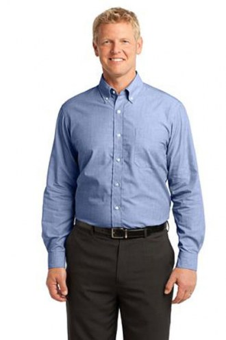 Port Authority Custom Men's Crosshatch Easy Care Button-Down Shirt