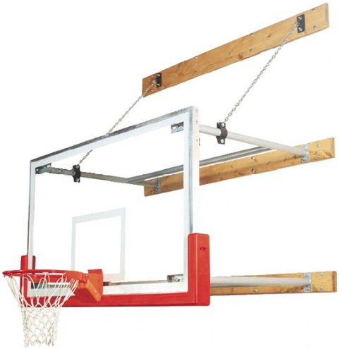 Bison Competitor Stationary Wall Mounted Basketball Hoop