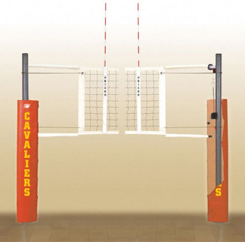 Bison Match Point Aluminum Indoor Volleyball Net System