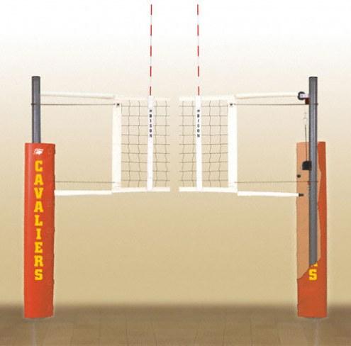 Bison Match Point Aluminum Indoor Volleyball Net System