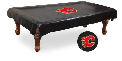 Calgary Flames Pool Table Cover