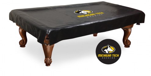 Michigan Tech Huskies Pool Table Cover