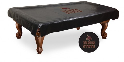 Texas State Bobcats Pool Table Cover