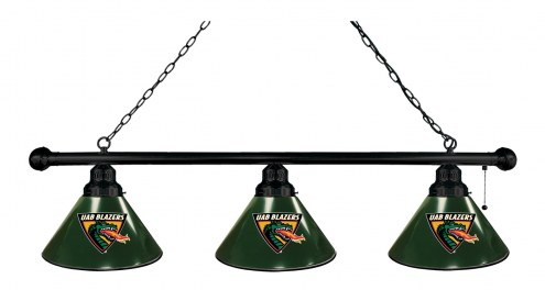 UAB Blazers 3 Shade Pool Table Light