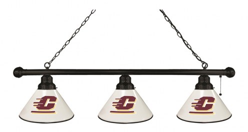 Central Michigan Chippewas 3 Shade Pool Table Light