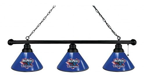 DePaul Blue Demons 3 Shade Pool Table Light