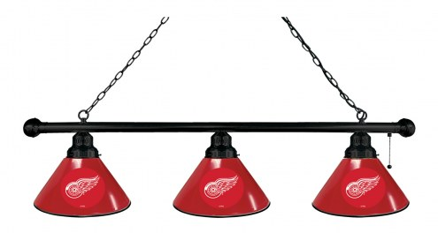 Detroit Red Wings 3 Shade Pool Table Light