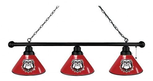 Georgia Bulldogs Logo 3 Shade Pool Table Light