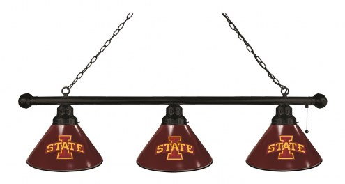 Iowa State Cyclones 3 Shade Pool Table Light