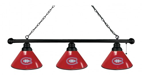 Montreal Canadiens 3 Shade Pool Table Light