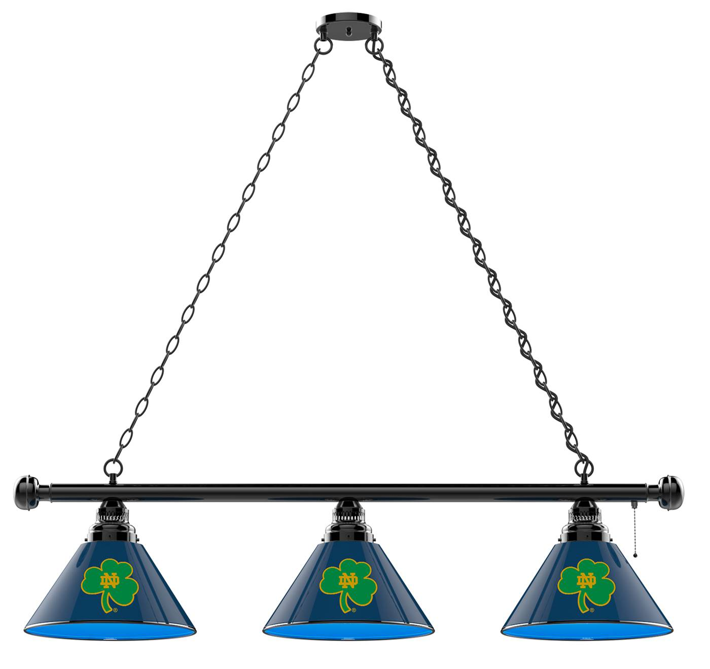 Gentil Brighten Up Your Game Room With The Notre Dame Fighting Irish Shamrock 3  Shade Pool Table Light And Show Off Your Team Pride! This Officially  Licensed Light ...