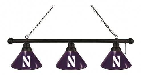 Northwestern Wildcats 3 Shade Pool Table Light
