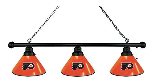 Philadelphia Flyers NHL 3 Shade Pool Table Light