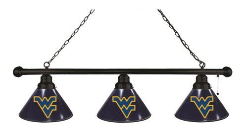 West Virginia Mountaineers 3 Shade Pool Table Light