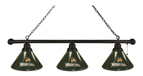 Wright State Raiders 3 Shade Pool Table Light