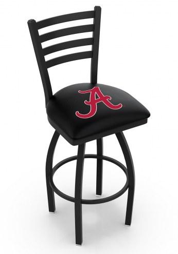"Alabama Crimson Tide ""A"" Swivel Bar Stool with Ladder Style Back"