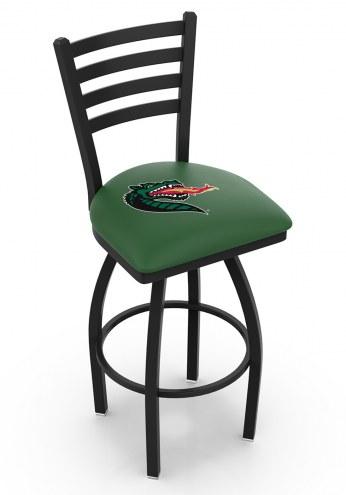 UAB Blazers Swivel Bar Stool with Ladder Style Back