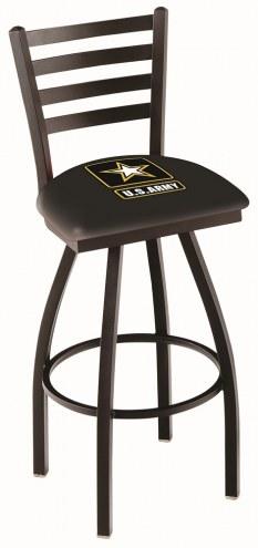 U.S. Army Black Knights Swivel Bar Stool with Ladder Style Back