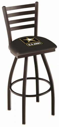U.S. Army Black Knights Swivel Bar Stool with Ladder Style Back