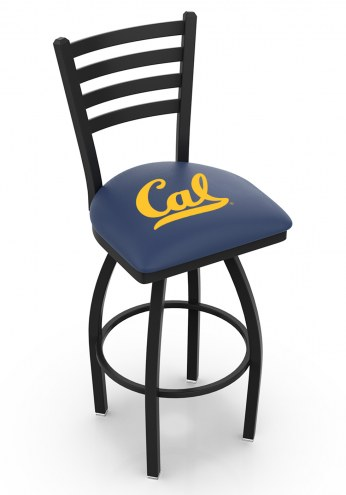 California Golden Bears Swivel Bar Stool with Ladder Style Back