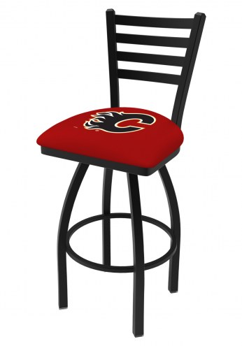 Calgary Flames Swivel Bar Stool with Ladder Style Back