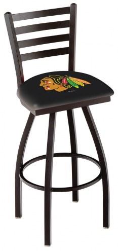 Chicago Blackhawks Swivel Bar Stool with Ladder Style Back