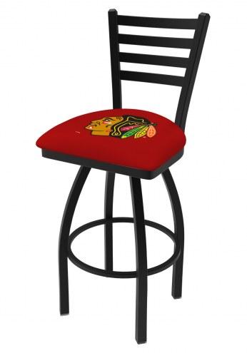Chicago Blackhawks NHL Swivel Bar Stool with Ladder Style Back