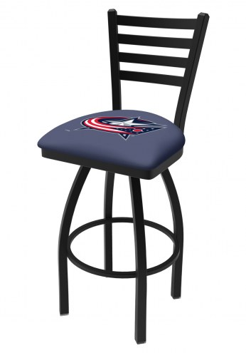 Columbus Blue Jackets Swivel Bar Stool with Ladder Style Back