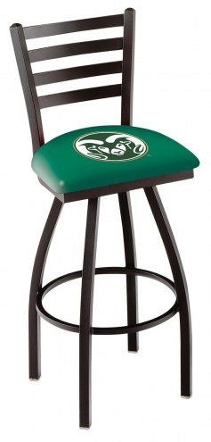 Colorado State Rams Swivel Bar Stool with Ladder Style Back