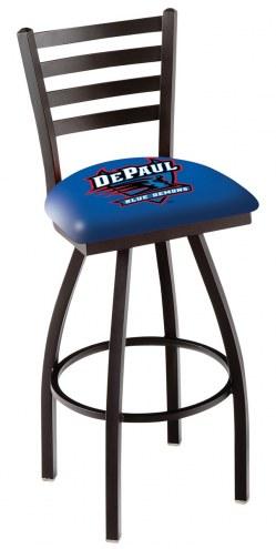 DePaul Blue Demons Swivel Bar Stool with Ladder Style Back